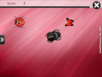 Screenshot of HappyNeuron Pro exercise Catch the Ladybug!
